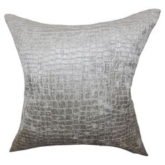 A luxe addition to your sofa or bedspread, this cotton velvet cushion features a snakeskin design in silver. Keep it sleek with clean lines, bare wood furnit...