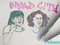 Reasons why hit comedy original Broad City is pushing the envelope by changing the way women are perceived on television. Broad City, Doodles, Artsy, My Love, Illustration, Illustrations, Scribble, Sketches, Donut Tower
