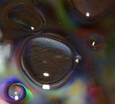 Ocular blob....serum drops resembling an eyeball