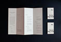 CV folder (mailer) - Quad'fold brochure - Self prom. on Behance