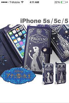 Disney princess iPhone 4/4s/5/5s/6/6 plus case old book case frozen Elsa