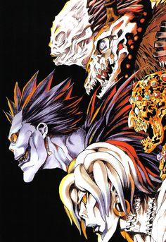 Shinigami, Death Note デスノート, Death Note Fanart, Manga Art, Anime Art, Tsugumi Ohba, Otaku, Japon Illustration, Manga Covers