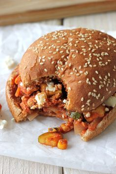 Turkey Chipotle Sloppy Joes with Feta