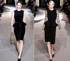 If you are really addicted to black, you can combine them with peplum tops and pencil skirts! Don't they look so elegant?