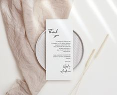 Thank You Letter, Thank You Note Cards, Wedding Menu Cards, Wedding Signage, Note Card Template, Blush Wedding Theme, Seating Chart Wedding Template, Guest Book Sign, Wedding Memorial