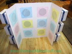 punch-a-box sharing time idea; and life-size game board game for sharing time