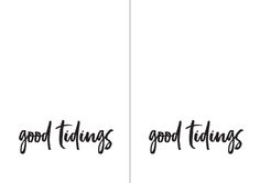 Printable Cards | Contemporary fonts and fuss free words combine to bring a touch of modern fun to your occasion.