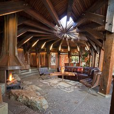 "Staude House, Big Sur by George Brook-Kothlow (1943-2012)    photo: Kodiak Greenwood, from the ""Handmade Houses: A Century of Earth-Friendly Home Design""  www.kodiakgreenwood.com"