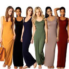 Ladies Tank Maxi Dress
