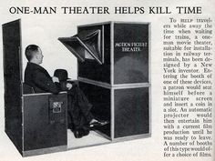 The One-Man Theater,  a good way to kill time while you're waiting for your train (1936).