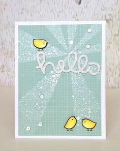 hello (shine) card - ls | Flickr - Photo Sharing!