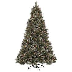 "Martha Stewart Living - 7.5 Feet Glittery Pine Pre-Lit Artificial Tree - GB1-300EC-75X - Home Depot Canada (non LED, 60"" diameter, glitter everywhere!)"