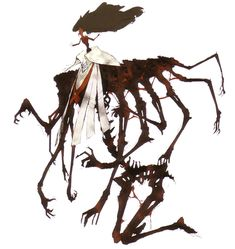 View an image titled 'Izanami Okami Art' in our Shin Megami Tensei: Persona 4 art gallery featuring official character designs, concept art, and promo pictures. Creature Concept Art, Creature Design, Fantasy Inspiration, Character Design Inspiration, Dark Fantasy, Fantasy Art, Character Concept, Character Art, Monster Design
