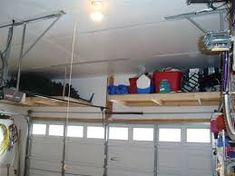 Image result for overhead garage organization