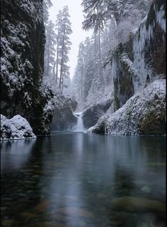 ✯ Eagle Creek Gorge, Punchbowl Falls, Oregon