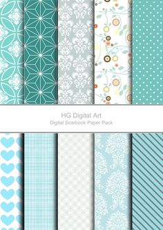 Digital Paper Pack for scrapbooking, Greetings card making, Invites, photo cards Free Digital Scrapbooking, Digital Scrapbook Paper, Scrapbook Pages, Scrapbook Photos, Origami, Diy Inspiration, Printable Paper, Free Paper, Paper Background