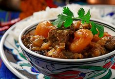 Persian Lamb Stew with Dried Apricots -  Start now so the meat has time to marinate.