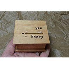 Music box, custom made music box, handmade music box, engagement gift, anniversary gift, keepsake, you+me=happy, simplycoolgifts