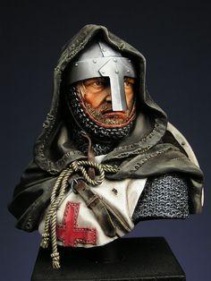 Completed - Pegaso Knight Templar Bust | planetFigure | Miniatures