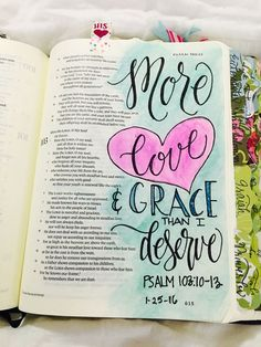 Psalm 103:10-13 more love than I deserve Bible journaling page