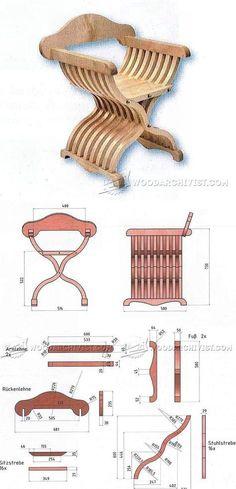 Savonarola Chair Plans - Furniture Plans and Projects   WoodArchivist.com