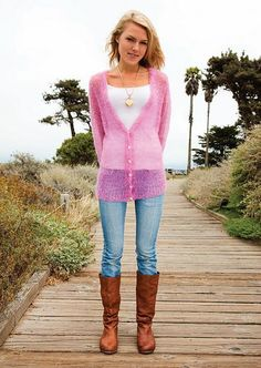 Hate the color, but I like this hazy mohair sweater! Wanderlust Cardigan by BeSweet | Knitting Pattern