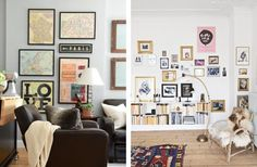 Would You Rather? Gallery Wall Edition - colour co-ordinated artwork vs rainbow colours