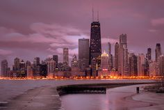 Chicago in the winter. Gorgeous