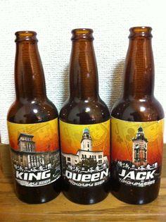 【地ビール】横浜ビール  KING・QUEEN・JACK!こちらはピルスナー・ヴァイツェン・アルト。