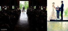 barn ceremony... #weddings