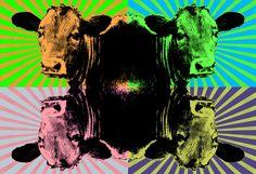 Nieuw in mijn Werk aan de Muur shop: Pop Art van een koe