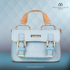 Azul, bolsa, moda.
