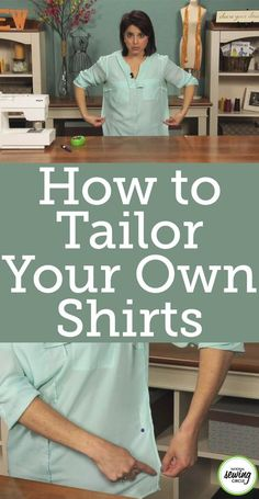 Sewing Techniques Couture Hot to Tailor Your Own Shirts - Aurora Sisneros shows you a quick and easy way to take in a shirt by yourself without using a dress form. Sewing Hacks, Sewing Tutorials, Sewing Crafts, Sewing Tips, Sewing Ideas, Dress Tutorials, Techniques Couture, Sewing Techniques, Tailoring Techniques