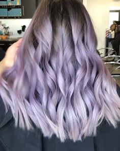 VSHOW HAIR amazing hairstyle purple haircolor fantastic dye hair - All For Hair Color Balayage Balayage Hair Purple, Blue Purple Hair, Hair Color Blue, Blonde Color, Cool Hair Color, Light Purple Hair Dye, Pastel Colored Hair, Lavender Hair Highlights, Pastel Ombre Hair