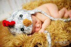 POPULAR Chick Hat Newborn 0 3m 6m Fuzzy Chicken Black White Soft Photo Prop Crochet Baby Boys Girls Fathers Day Gift Gender Neutral CUTE. $34.95, via Etsy.