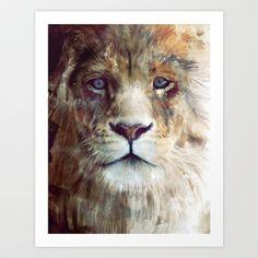 Lion // Majesty Art Print by Amy Hamilton - $17.00