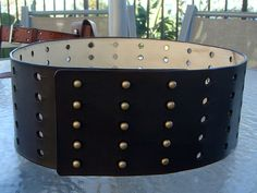 River Song waist belt by TimelordLeatherworks on Etsy