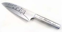 This would be a great cheese knife to go with the Cat Cheeseboard and mouse cheese spreader.