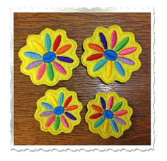 Daisy Feltie Machine Embroidery Design  2 by RivermillEmbroidery