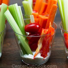 Great way to serve veggies.  Maybe use hummus dip!
