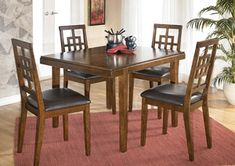 Cimeran Rectangular Table & 4 Side Chairs by Signature Design by Ashley. Get your Cimeran Rectangular Table & 4 Side Chairs at Room Solutions, Thibodaux LA furniture store. Dining Room Sets, Dining Table Chairs, Dining Room Furniture, Side Chairs, Furniture Mattress, Bar Tables, Drum Table, Dining Nook, Coaster Furniture