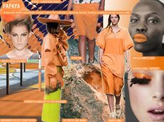 Papaya Mood Board Spring/Summer 2015 For more fashion trend forecasting, check out Trendstop.com