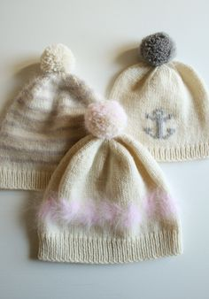 Whit's Knits: Soft and Sweet Hats - The Purl Bee - Knitting Crochet Sewing Embroidery Crafts Patterns and Ideas!