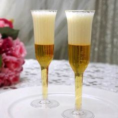 12 Champagne Flutes-Clear