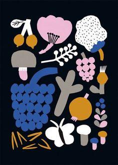 Shop Black Forest Poster from Leena Kisonen Shop in Digital prints, available on Tictail from Illustrations, Illustration Art, Textile Patterns, Print Patterns, Ohh Deer, Poster S, Black Forest, Surface Pattern Design, Helsinki