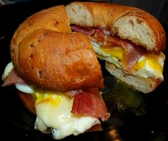 Bagel Breakfast Sandwich- looks delightful right now