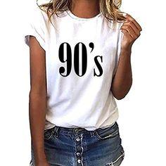 407f7b7459150 Vetement Femme Pas Cher a la Mode Coton Tee T-Shirt à Manche Courte Femmes  Top Sweat Chemise Blanche ado Fille Vest Gilet  débardeurs  débardeurshomme  ...