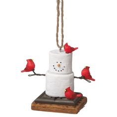 Found it at Joss & Main - Marshmallow & Cardinals Ornament