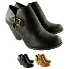 Womens Blowfish Buster Mid Wedge Heel Lace Up Fold Cuff Ankle Boot US 6-10.5