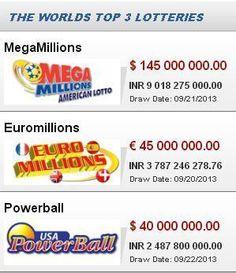 America mega lottery sweepstakes raffle